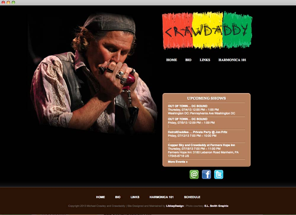 Crawdaddy Website