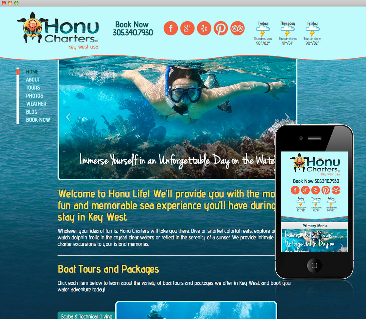 Honu Charters Website