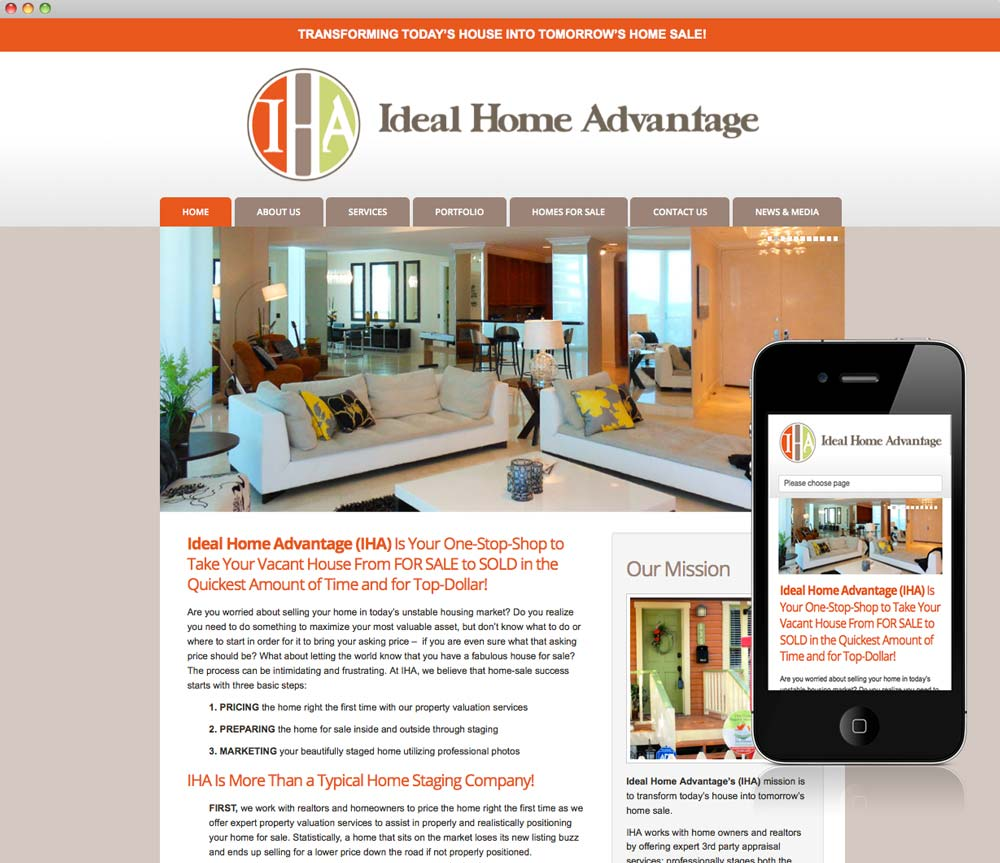 Ideal Home Advantage Website
