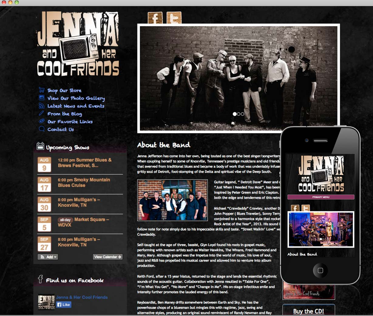 Jenna and Her Cool Friends Website