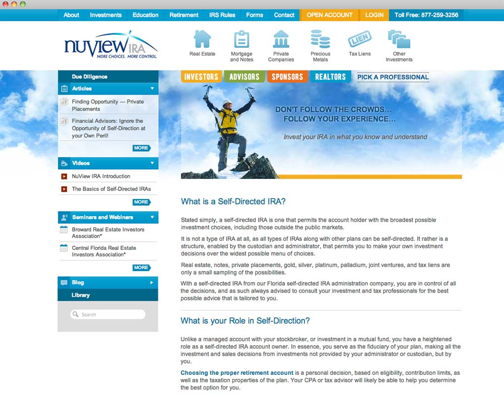 NuView IRA Website
