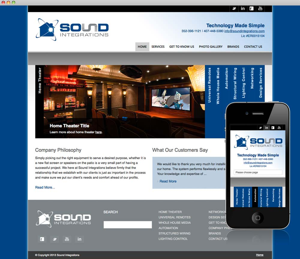 Sound Integrations Website